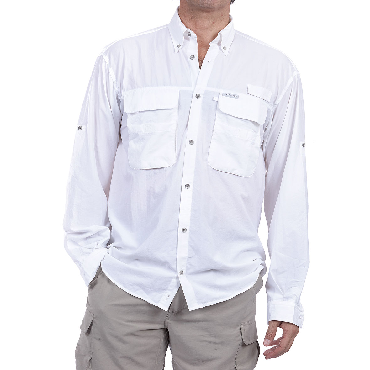 MG 8471 5ML80061140M Camisa Fly Cast M.L. Blanco - Camisa Fly Cast M/L
