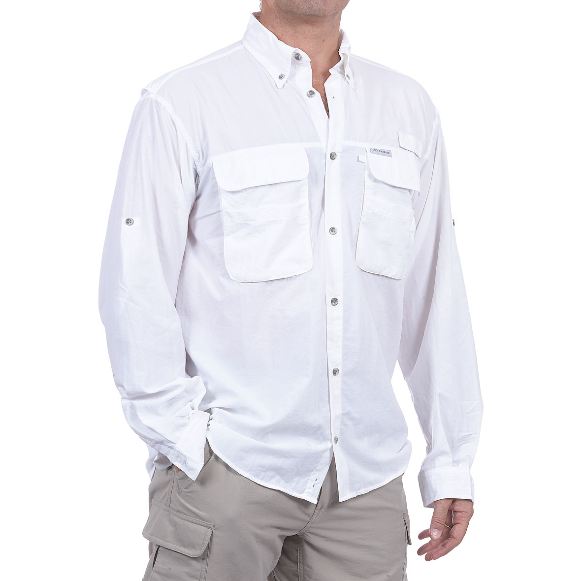 MG 8472 5ML80061140M Camisa Fly Cast M.L. Blanco - Camisa Fly Cast M/L